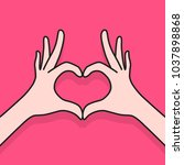 cartoon female hands making... | Shutterstock .eps vector #1037898868