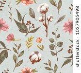 seamless vintage floral pattern ... | Shutterstock . vector #1037905498
