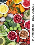 healthy lifestyle food concept... | Shutterstock . vector #1037908288