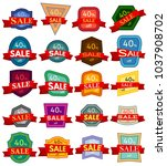 set of twenty discount stickers.... | Shutterstock . vector #1037908702