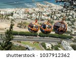 Haifa Cable Car Running Between ...