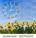 daylight saving time. dst. wall ... | Shutterstock . vector #1037915245