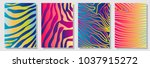 set of a4 covers with... | Shutterstock .eps vector #1037915272