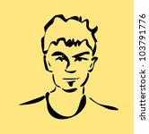 raster illustration of young man | Shutterstock . vector #103791776
