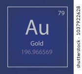 gold au chemical element icon ... | Shutterstock .eps vector #1037922628