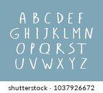 vector hand writing type.... | Shutterstock .eps vector #1037926672
