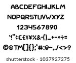 vector hand drawn typeface.... | Shutterstock .eps vector #1037927275