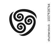 three swirl vector logo.... | Shutterstock .eps vector #1037928766