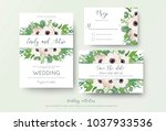 wedding invite  invitation ... | Shutterstock .eps vector #1037933536