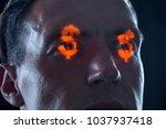 Dollar Signs In Eyes As Symbol...