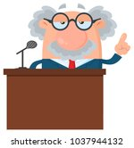 Professor Or Scientist Cartoon...