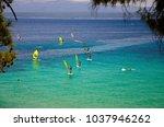 Windsurfers On Water Of Bol...