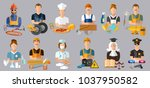 collection professions.... | Shutterstock .eps vector #1037950582