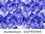 macro photo of blue sapphire... | Shutterstock . vector #1037953945