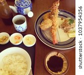 japanese cuisine tempura and...   Shutterstock . vector #1037954356