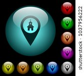 church gps map location icons... | Shutterstock .eps vector #1037956222