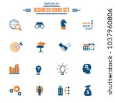business solutions   vector... | Shutterstock .eps vector #1037960806
