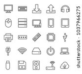 computer icons. gadget icon set ...