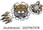 a wildcat angry animal sports... | Shutterstock .eps vector #1037967478