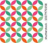 seamless geometric pattern. the ... | Shutterstock .eps vector #1037970358