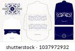 wedding invitation card...   Shutterstock .eps vector #1037972932