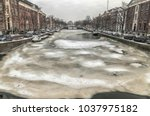 Dutch Canal Frozen And Covered...