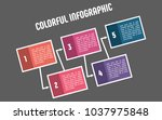 colorful infographic in five... | Shutterstock .eps vector #1037975848