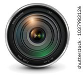 camera photo lens  vector... | Shutterstock .eps vector #1037983126