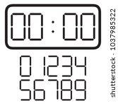 digital clock. vector | Shutterstock .eps vector #1037985322
