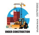 building under construction... | Shutterstock .eps vector #1037993002