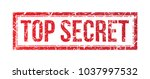 top secret red grunge stamp on... | Shutterstock .eps vector #1037997532