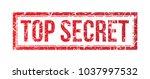 top secret red grunge stamp on... | Shutterstock .eps vector #1037997532
