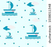 seamless vector illustration... | Shutterstock .eps vector #1038011548