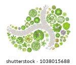 vector illustration. landscape... | Shutterstock .eps vector #1038015688