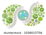 vector illustration. landscape... | Shutterstock .eps vector #1038015706