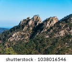 hight mountain peak. seoraksan... | Shutterstock . vector #1038016546