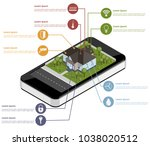 infographics of the smart house.... | Shutterstock .eps vector #1038020512