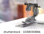 closeup view on the sewing foot ...   Shutterstock . vector #1038030886