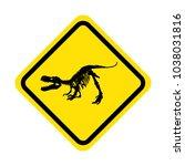 tyrannosaurus rex skeleton... | Shutterstock .eps vector #1038031816