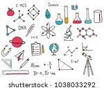 hand drawn of science doodle... | Shutterstock .eps vector #1038033292
