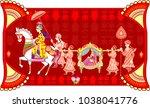 indian  hindu wedding... | Shutterstock .eps vector #1038041776