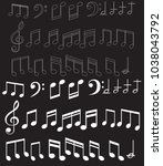 music note background with... | Shutterstock .eps vector #1038043792