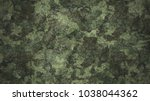 texture military camouflage... | Shutterstock . vector #1038044362