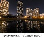 beautiful long exposure night... | Shutterstock . vector #1038045592