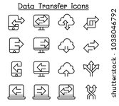 computer data transfer icon set ... | Shutterstock .eps vector #1038046792