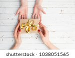 close up of child and mother... | Shutterstock . vector #1038051565