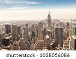 panoramic view of building and... | Shutterstock . vector #1038056086