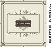 invitation frame. vintage... | Shutterstock . vector #1038056902