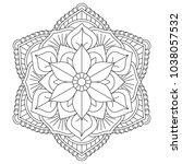 floral mandala vector for... | Shutterstock .eps vector #1038057532