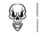 monochrome illustration of... | Shutterstock .eps vector #1038058546